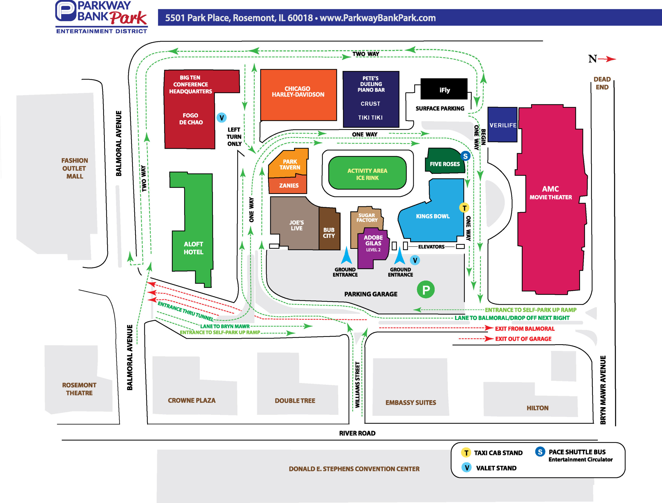 PWB Park area W HOTELS MAP 2021